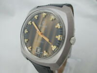 NOS NEW SWISS VINTAGE WATER RESIST DATE BIG AUTOMATIC REVUE ANALOG WATCH 1960'S