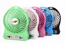NEW Portable Mini Fan USB Rechargeable Battery /LED Lamp Indoor/Out - PINK