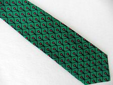 Bullock & Jones Neck Tie Hand Made in ITALY Green and Red Silk Festive Holiday