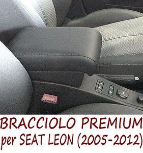 Bracciolo Premium per SEAT LEON (2005 - 2012) - MADE IN ITALY - appoggiagomito-@