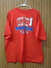 Texas Rangers Fear The Claw - World Series 2010 Baseball Fan T-Shirt - Size XXL