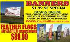 HEAVYWEIGHT 2X8 FOOT FULL COLOR VINYL CUSTOM OUTDOOR BANNER - WE SELL THE BEST