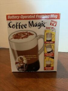 Coffee Magic Battery Operated Frothing Mug As Seen On TV Self Stir Hot or Cold