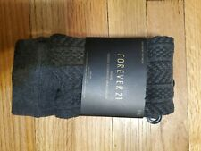 (NWT) Forever 21 Knit Charcoal Tights