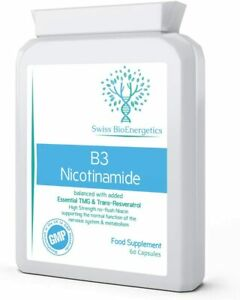Vitamin B3 Nicotinamide Balanced with Added Essential TMG  & Trans-Resveratrol