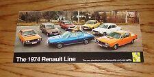 Original 1974 Renault Full Line Foldout Sales Brochure 74 12TL 15TL 17TL