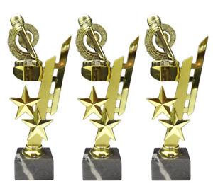 3er-Serie Karaoke/Musik-Pokale (Sternenhalter) mit Ihrer Wunschgravur