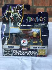 MARVEL MINIMATES  ROCKET AND ADAM WARLOCK FIGURE SET NEW WALGREENS GUARDIANS