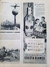 1946 Cresta Blanca California Sauterne Wine Cellar Original Ad