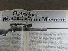 SHOOTING TIMES TESTS BRN CHALLENGER II, MARLIN 444, RUGER MINI-14 WBY MARK V,