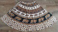 Indian Hippy Bohemian Block Print Calf Length Wrap Around Skirt