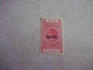 NIUE Cook Islands Stamp SG 37 Scott 34 DE LA RUE PAPER OG Hinged