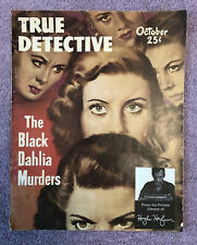 HUGH HEFNER COPY w/HEF'S BOOKPLATE - TRUE DETECTIVE MAGAZINE (1948) BLACK DAHLIA