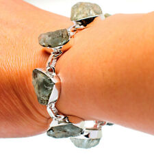 Rough Aquamarine 925 Sterling Silver Bracelet Ana Co Jewelry B876016F