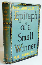EPITAPH OF A SMALL WINNER 1953 1st ed 2nd imp Machado de Assis W H Allen HB DJ
