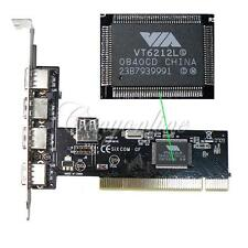 USB 2.0 4+1 5 Port 480Mbps High Speed VIA HUB PCI Controller Card Cards Adapter