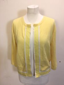 Joules 100% Yellow Cashmere Jumper Size 14 ( Item No 14 )