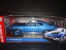 Auto World Plymouth GTX 1971 Blue 1/18