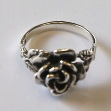 ROSE RING STERLING SILVER THAILAND  flower hill  Size.US=10 UK-T