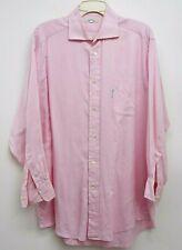 Façonnable Long Sleeve 100% Cotton Pink Dress Shirt Mens Sz 16.5 / Reg