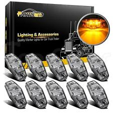 "10x 2.54"" Sealed Mini Led Marker Clearance Light 2 Diodes Universal Clear/Amber"