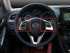 New Car Interior Steering Wheel Cover Trim ABS Matte For Mazda 3 M3 2014-2015