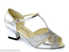 Women's West Coast Swing Salsa Ballroom Dance Shoes low Heel 2