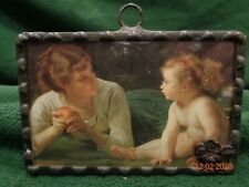 New ListingVintage Small Renaissance Picture/Mirror Reverse in Metal Frame