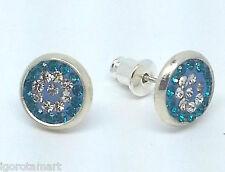 2Pcs Men Women Pair Silver Crystal / Blue Earrings Ear Hook Stud Studs  Jewelry