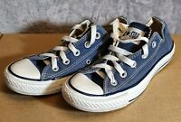 Chuck Taylor Converse All Stars Navy Blue Unisex Trainers - Size 4 UK
