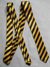 "TOP QUALITY SKINNY SLIM MOD TIE SHINY NEW 2"" END YELLOW BLACK STRIPED STRIPES"