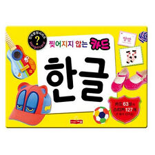 Korean Alphabet Cards + Stickers HANGUL Study Vocabulary Picture Flash Cards