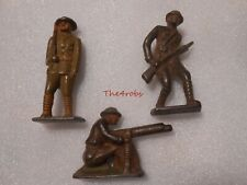 3 Vintage Cast Iron WW I Doughboy Soldiers 2 3/4""