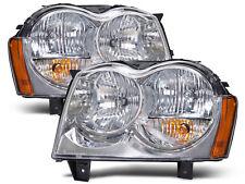 New 05-07 Jeep Grand Cherokee Headlights W/Xenon Bulbs Headlamps Pair Set New