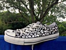 CONVERSE Black White ALL STAR Floral Polka Dot Sneakers Shoes Womens Sz 10 👟1