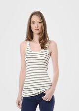 VINCE Skinny Striped Favorite Basic Summer Tank Top Shirt white cream black XXS