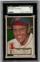 1952 Topps Baseball #84 Vern Stephens - SGC 5 EX