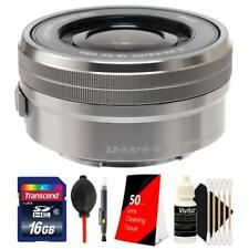 Sony E PZ 16-50mm F/3.5-5.6mm OSS E-Mount Lens Silver with 16GB Accessory Kit