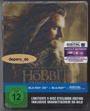 """the Hobbit-Smaugs Solitude"" - 3d + 2d Lenticular Blu Ray Steelbook-Rare OOP"