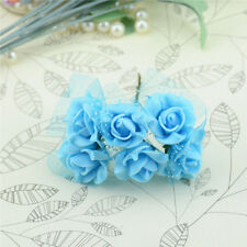 144pcs PE Foam Artificial Lace Rose Flowers Wedding Bride Bouquet Wreath Decor