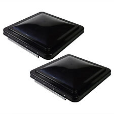 "2 pack 14"" x 14"" Replacement Roof Vent Cover Camper RV Trailer Smoked Ventline"