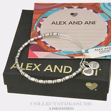 Authentic Alex and Ani Reed Rafaelian Silver Bangle