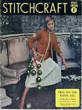 STITCHCRAFT MAGAZINE DEC 1956 VINTAGE ORIGINAL CRAFT SEWING KNITTING PATTERNS