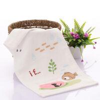 Bear Printed Cotton Baby Face Towel Soft Washcloth Kids Bath Absorbent Hand Shan
