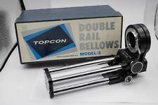 Boxed - Topcon RE Super Camera Exakta Mount Double Rail Macro Bellows Model 3