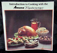 Amana Radarange Microwave Oven Cook Book 1989 A Raytheon Company