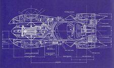 Blueprint - Batman 1989 Batmobile Art Silk Poster 24x36inch