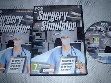Chirurgie Simulator ~ pc jeu pc cd-rom avec instructions