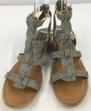 09625ed82d8d Boc Born Concept Brown Strappy Gladiator Sandals Zip Back 8 M Easy On