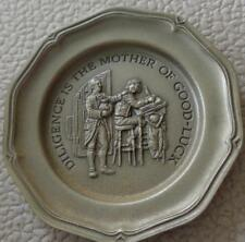 Diligence Is The... - Franklin MInt Miniature Collectible Plate - VGC BRONZE